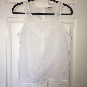 Lucky brand eyelet lace sleeveless tank top